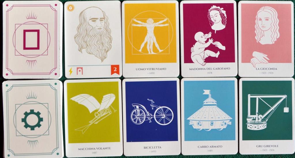 """Alcune delle carte """"Opera"""" e """"Invenzione"""""""