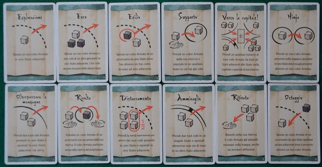 Le carte tattiche