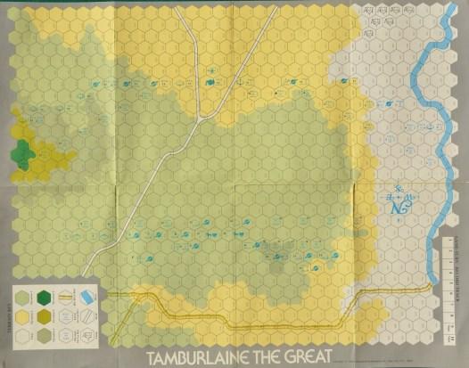 La mappa di Tamburlaine the Great.