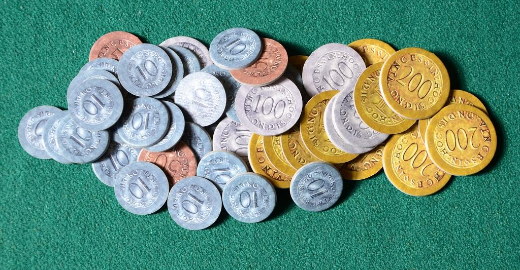 Le monete del gioco.