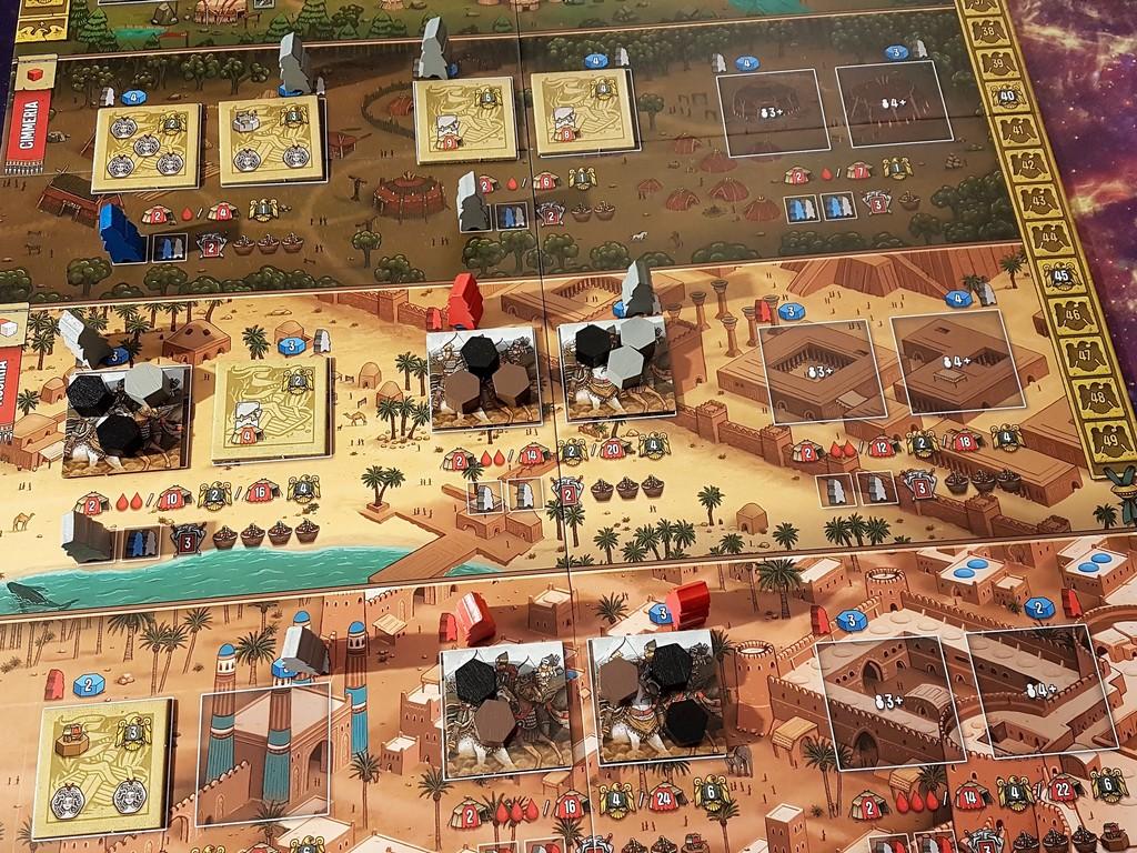 saccheggiare più a destra si usano solo giocando in tre e in quattro giocatori.