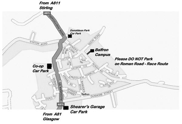 Balfron parking map 2015