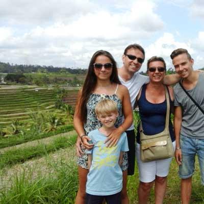 randonnées à pied sur les rizières bali