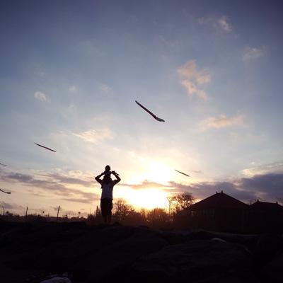 viyage au coucher du soleil