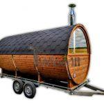 Mobile-outdoor-sauna-with-dressing-room-Harvia-wood-burner-39-150x150 Zewnętrzne sauny - Sauny ogrodowe - Różne modele saun sprzedajemy już do Polski!