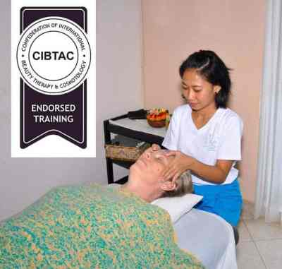 The 20 day CIBTAC Balinese Spa Rituals program at BISA is endorsed by CIBTAC and includes Balinese Massage, Traditional Body Scrubs and Wraps, Traditional Facial, Traditional Creambath Hair Treatment