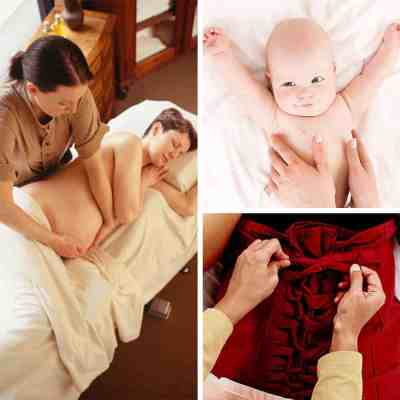 This Bali International Spa Academy spa maternity training package includes pregnancy massage, post natal massage and wrap, baby massage, and anatomy and physiology.