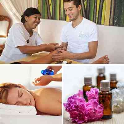 ITEC complementary therapies collage of massage, aromatherapy and reflexology which are all covered in the course