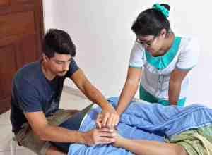 Male Spa Therapist - Learning Foot Reflexology