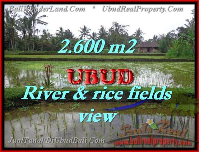 Beautiful Land for sale in Bali, River & rice fields view in Ubud Bali – TJUB421