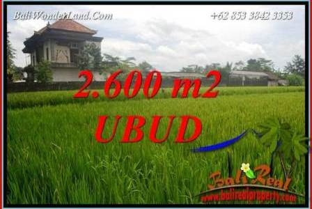 Exotic 2,600 m2 Land sale in Ubud Bali TJUB701