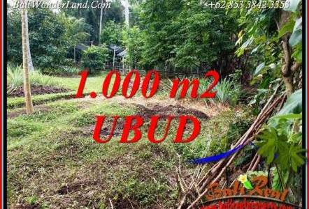 Affordable Property 1,000 m2 Land sale in Sentral Ubud TJUB712