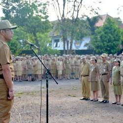 Jaya Negara Ingatkan Disiplin di Apel ASN