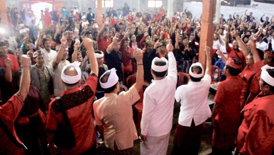 Tiga Desa di Kintamani Bertekad Menangkan Koster-Ace 95 Suara