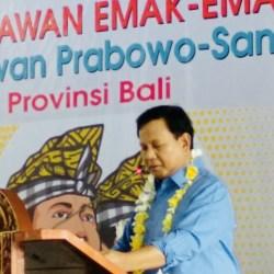 Capres Prabowo: Keberanian Emak- Emak Akan Memimpin Perubahan di Negeri Ini