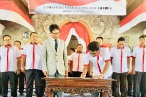 Pengurus KONI Gianyar Periode 2018-2022 Dilantik