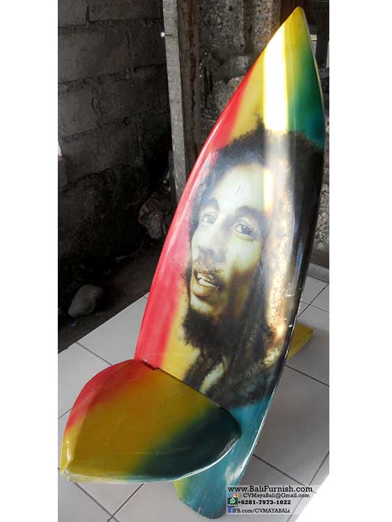 wholesale beach chairs fishing chair carry strap airbrush surfboard from bali indonesia surfing board bob marley