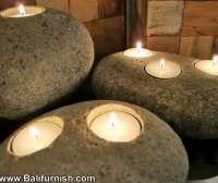 Natural Stone Candle Holders from Bali