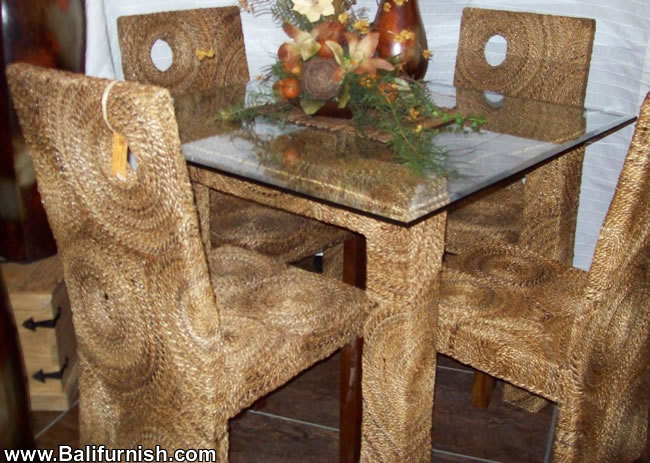 sea grass chairs high back patio chair woven dining room furniture sets indonesia