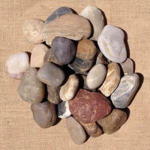Multi Mixed Polished Pebbles 20mm - 40mm