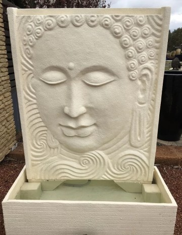 Peaceful Buddha Water Panel Creme WF202