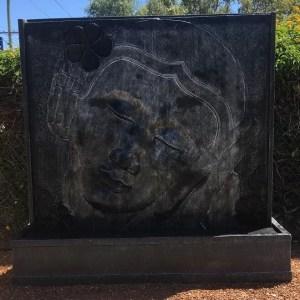 Frangipani Face Panel Black Silver WHN004