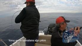 Ağır çekim balığın tasmalama anı ve dipten gelen sürpriz