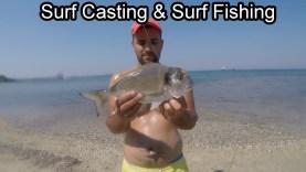 Surf Casting Surf Fishing Kıyıdan Çupra Çipura Avı Dorado Tsipoura Gillthead Seabream Goldbrassen