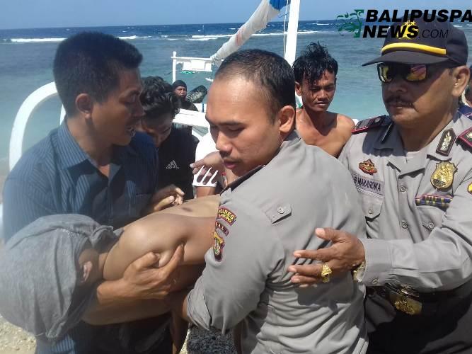 Korban WNA asal Malaysia yang tewas terseret arus pantai Diamont,Nusa Penida