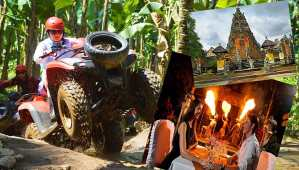 Bali ATV Quad Bike and Bali Zoo Dinner with Elephant