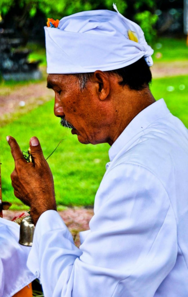 Bali Praying Priest