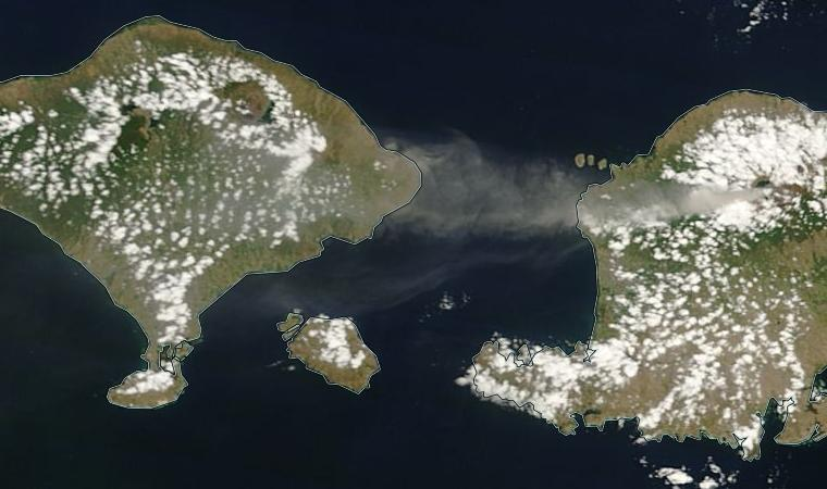 Bali ash cloud 3 November 2015