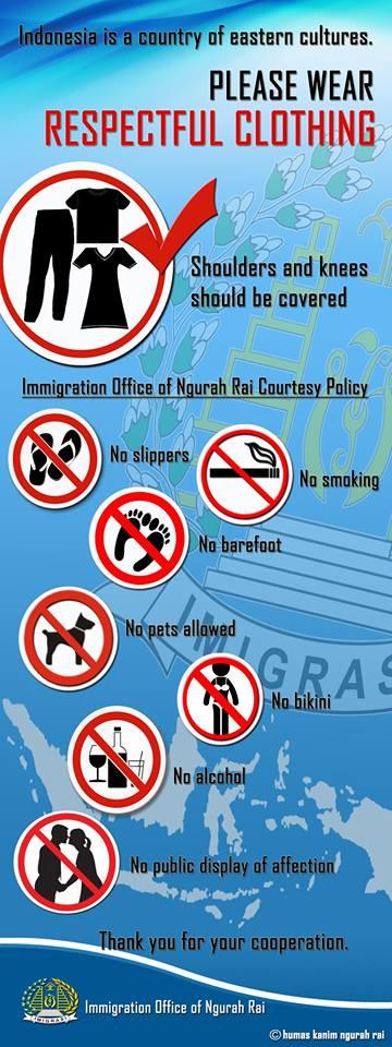 bali immigration office dress code