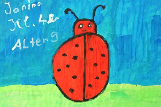 Aktionskunst Kindermalen  Kinderbild Kfer gemalt von