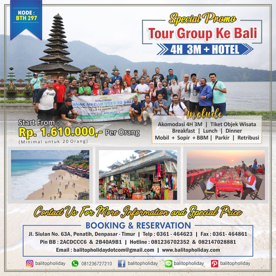 Paket tour group murah BTH 297