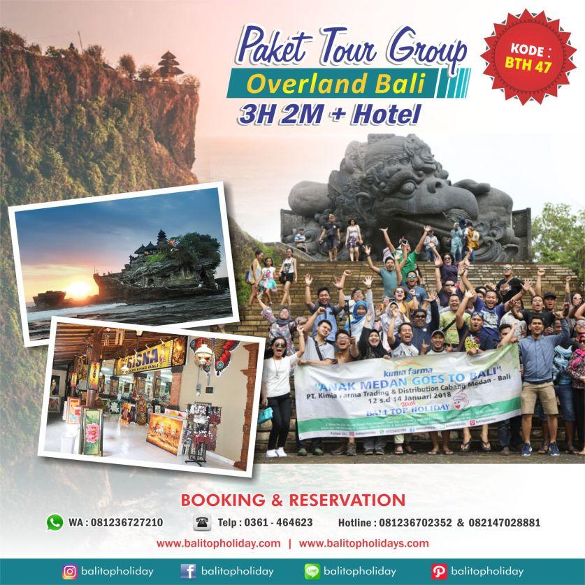 Paket Tour Group Overland 3H 2M Bali