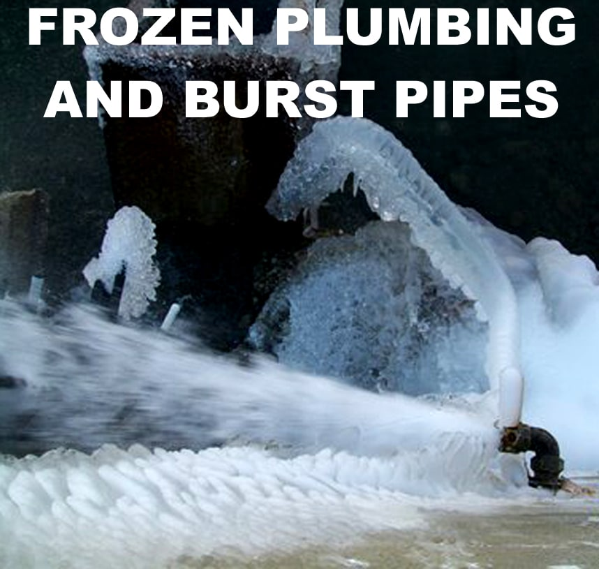 Frozen Pipes Become Burst Pipes Protect Your Plumbing