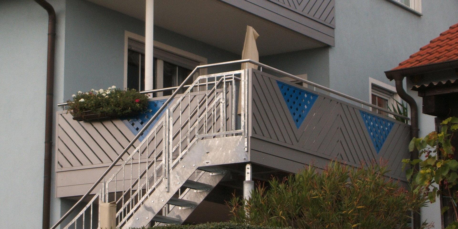Balkonbau Und Balkongeländer Auburger - Stahl-Aussentreppen