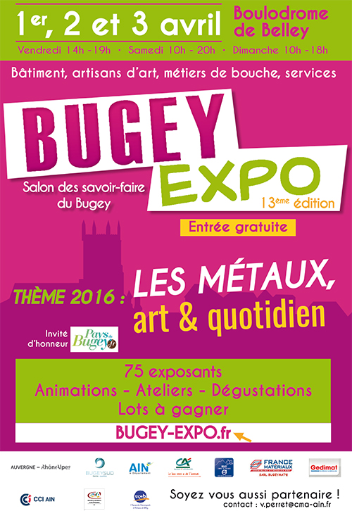 Affiche Bugey Expo 2016 ballad et vous
