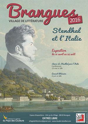 Brangues affiche Stendhal et l'Italie ballad et vous