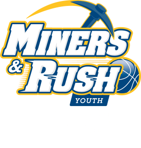 Miners and Rush Youth Logo CHW white
