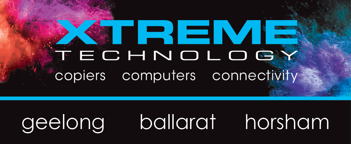 XTREME TECHNOLOGY logo with splash and offices
