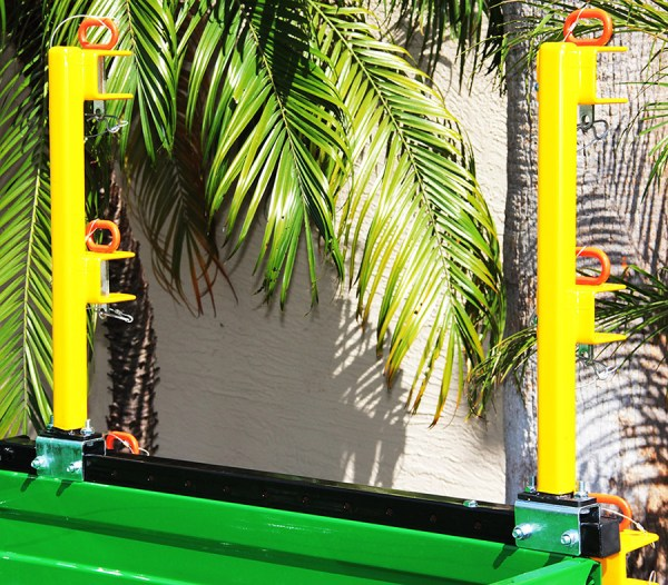 Utility Vehicle Bed Rail System for John Deere Plastic Bed