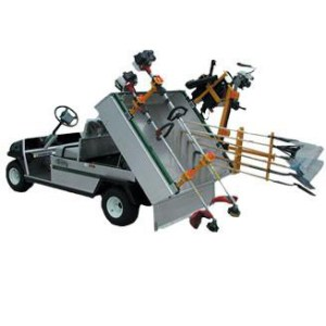 Utility Vehicle Bed Rail System (For Club Car Carry All 2)