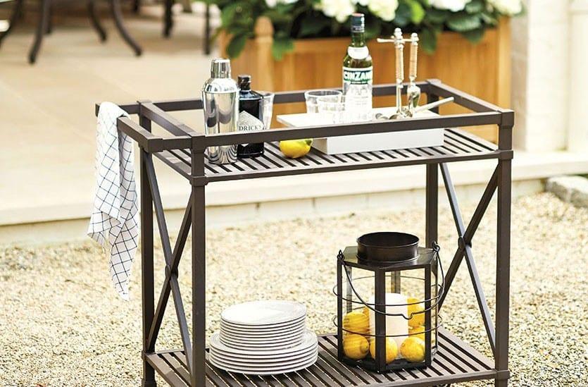 bar cart for outdoor entertaining
