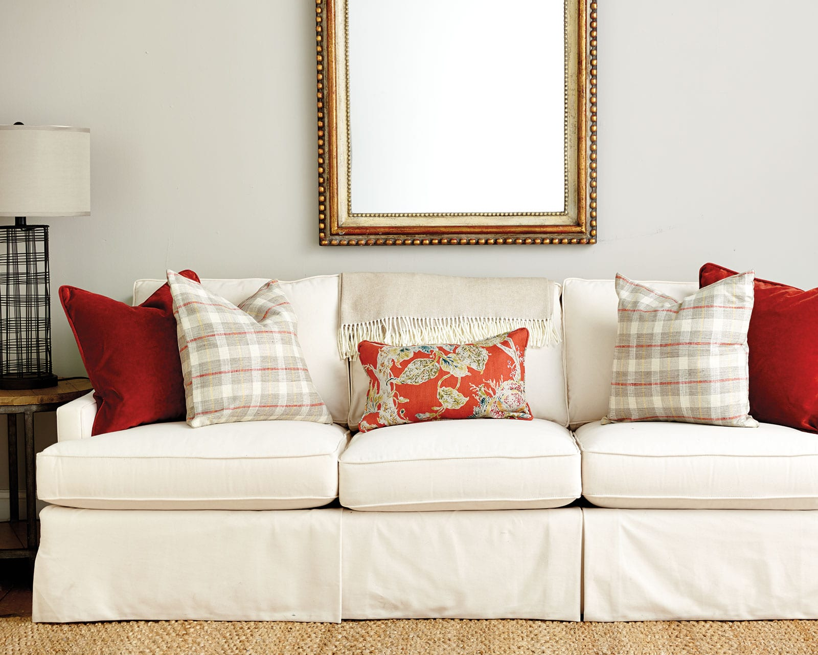 living room decorative pillows how to decorate my modern style guide choosing throw spicy orange on a sofa