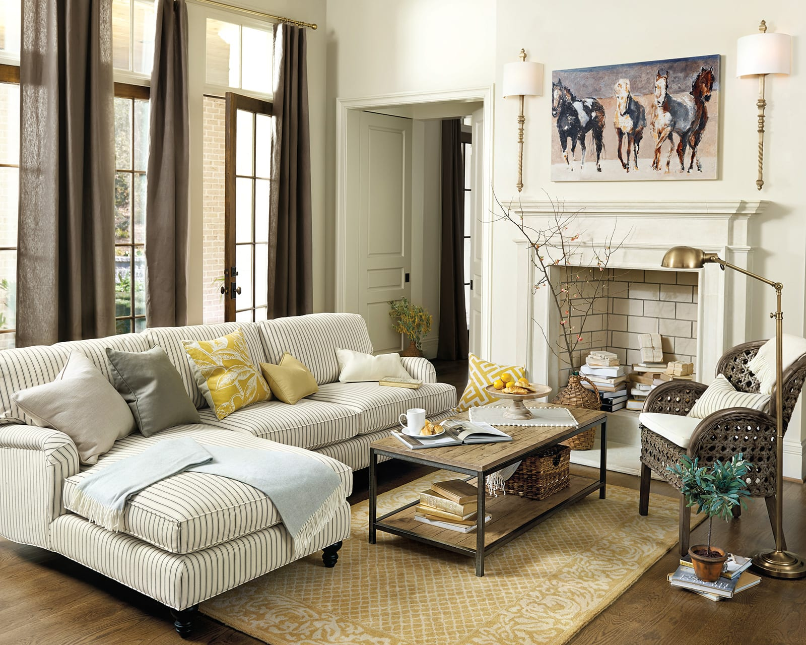 coffee table size for sectional sofa teal how to match a your