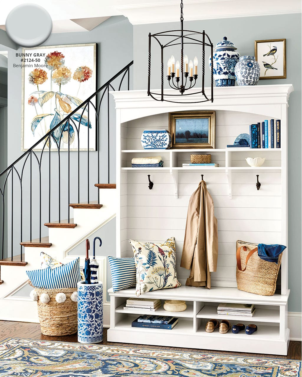 living room wall colors 2018 design tips ballard designs spring paint how to decorate benjamin moore s bunny gray color in entryway from catalog