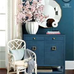 Living Room Wall Colors 2018 Outdoor Rooms Pictures Ballard Designs Spring Paint How To Decorate Benjamin Moore S Lucerne Blue Color In Catalog