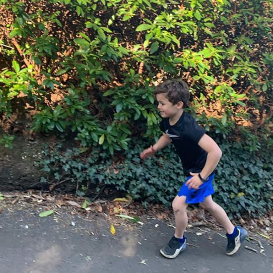 Six-year-old takes on running challenge to raise hundreds of pounds for NHS